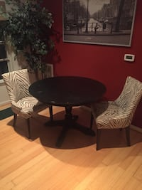 round black wooden table with two chairs Arlington, 22214