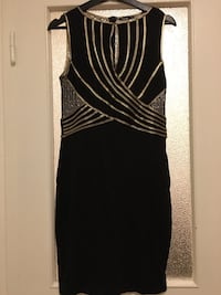 Black and golden dress. Size/storlek Medium Gothenburg, 418 37