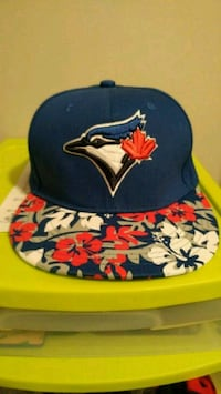 blue and yellow fitted cap Saint Thomas, N5R 6H5
