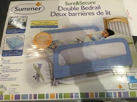 Double bed rails,blue, by Summer