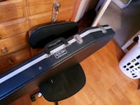 Black coffin guitar case with red velvet interior  Grover Beach, 93433