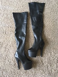 Thigh-high leather platforms Tucson, 85741