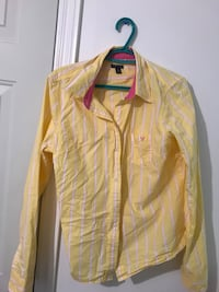 yellow and white button-up long-sleeved shirt Ottawa
