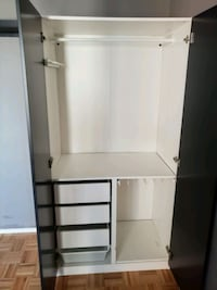 Black and White Wardrobe 40w Bronx, 10475
