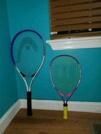 two blue and red tennis rackets Halethorpe, 21227