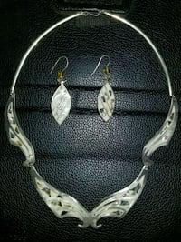 Silver necklace set Waianae, 96792
