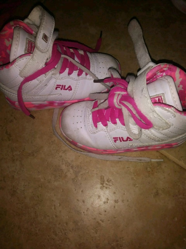 Size 11 pink & white sneakers (youth)