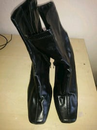 pair of black leather knee-high boots Albuquerque, 87109