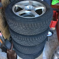 Winter tire and rim package- general Tire- 205/55/16 Tires used one season. Price is firm   Richmond Hill, L4B 2A8