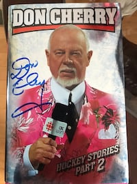Don Cherry signed book New. Toronto, M8Y 1G4