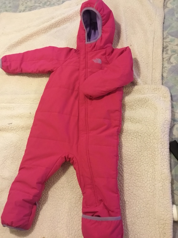 030765223 The North Face Infant Thermoball Bunting Snowsuit 18-24 month In Hot Pink