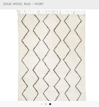Moroccan Style Wool Rug - Ivory Chicago, 60661