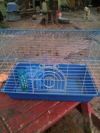 blue and white pet cage Lockhart, 78644