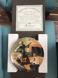 two man and woman print decorative plates
