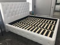 White tufted and studded king bed  Wylie, 75098