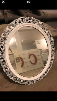 Hand painted chic wall mirror