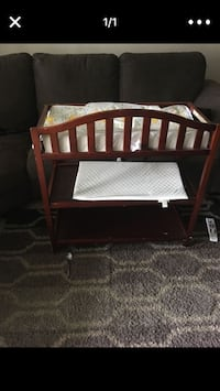 baby's brown wooden cradle Silver Spring, 20903