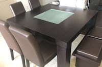 Square dining table with chairs, benches. Great condition Gaithersburg, 20878