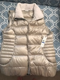 Brown CK zip-up bubble vest Fairfax, 22033
