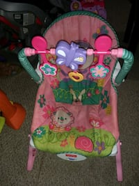 baby's pink and green Fisher-Price Rocker Warner Robins, 31093