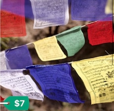 Assortment of Tibetan Prayer Flags from Nepal. Variety of 4 different Styles. $7-$12 each ~ New!