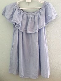 Blusa Zara a rayas color blanco y celeste, Alginet, 46230