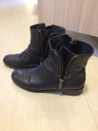 Via Spiga Italian leather black ankle boots shoes size EU 41 From pet and smoke free owner Vancouver, V5S 3R1