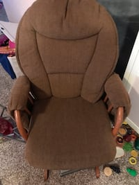 brown fabric padded rolling armchair Aurora, 80015