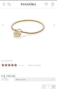 Pandora authentic braclet in gold color 23cm size , brand new , never been worn  Mississauga, L5J 2B9