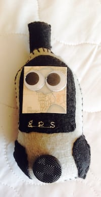 Home-made Stuffed Geocaching GPS for Geocacher Lincoln, L0R