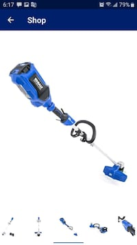 Kobalt 80-volt max-16 in straight cordless string trimmer with battery La Vergne