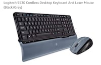 Logitech S520 Cordless Keyboard And Laser Mouse   Mississauga, L5W