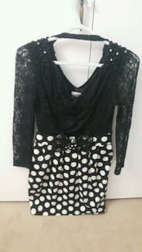 women's black and white polka dot dress Ottawa, K1V