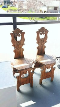 Hand carved wooden chairs Toronto, M2R 1W9