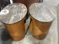 two brown wooden side tables Long Beach, 90813