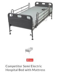 Electric Hospital bed by Drive with mattress