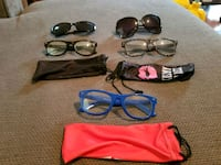 four assorted color sunglasses with cases Salina, 67401
