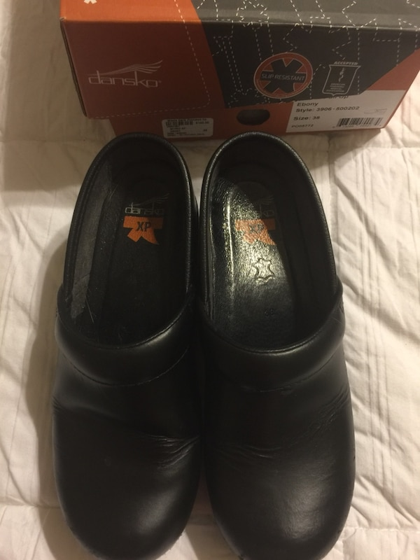 557aac1139156f Used pair of black clansko shoes with box for sale in Saginaw - letgo