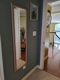 Tall silver mirror with matching picture frame Fredericksburg, 22407