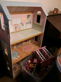 Doll house and bunch furniture