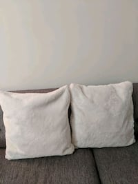 White Fur Pillow Case and Pillow  Mississauga