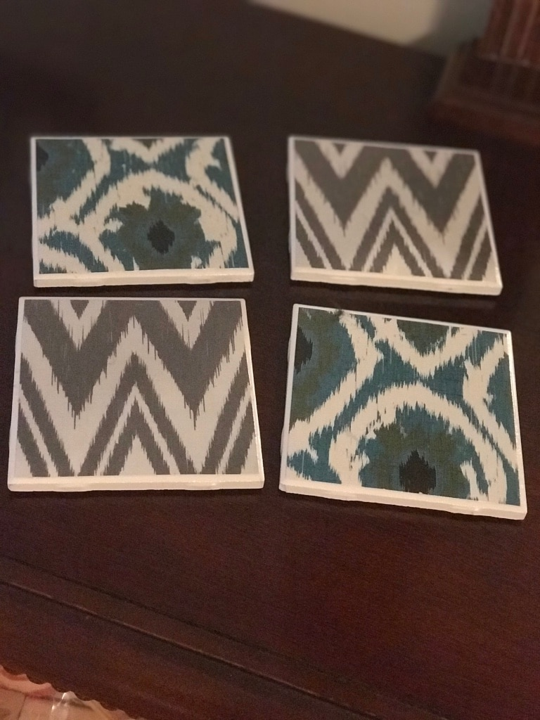 Photo 4 hand made tile coasters/ porch pick up