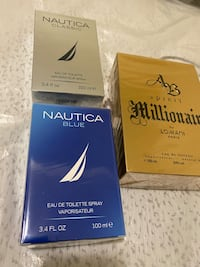 Nautica,Millionaire Perfumes For Sale  ( SEALED)