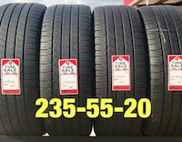 4 used tires 235/55/20 Michelin (A-) Houston, 77047