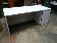 Commercial Office Desk w/ Locking Drawer Santa Barbara
