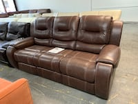 Tobacco Brown Leather Reclining Sofa  Jacksonville, 32218