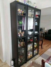 Glassware display..like wooden hutch.