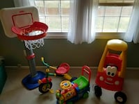 Kids toys basketball trike train car