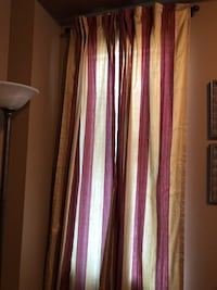 Red and gold Silk Curtains/ drapes (3 sets) Vaughan, L4L 1S2