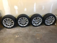 Dogde rims R17 with tires  Drums, 18222